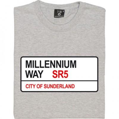 Sunderland AFC: Millennium Way SR5 Road Sign
