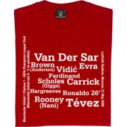 Manchester United 2008 UEFA Champions league Final Line Up T-Shirt