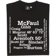 Newcastle United 1969 Inter-Cities Fairs Cup Final Line Up T-Shirt