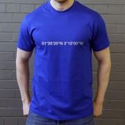 Cardiff City: Ninian Park Coordinates T-Shirt