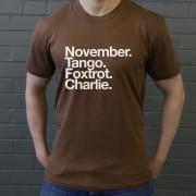 Northampton Town FC: November Tango Foxtrot Charlie T-Shirt