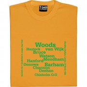 Norwich City 1985 League Cup Line Up T-Shirt