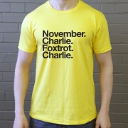 Norwich City FC: November Charlie Foxtrot Charlie T-Shirt