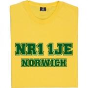 Norwich City Postcode T-Shirt