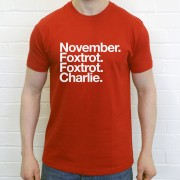 Nottingham Forest FC: November Foxtrot Foxtrot Charlie T-Shirt