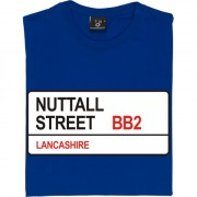 Blackburn Rovers: Nuttall Street BB2 Road Sign T-Shirt
