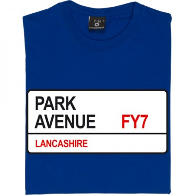 Fleetwood Town: Park Avenue FY7 Road Sign