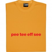 Partick Thistle Pee Tee Eff See T-Shirt