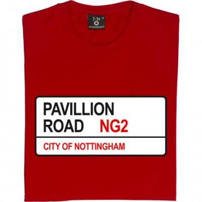 Nottingham Forest: Pavillion Road NG2 Road Sign