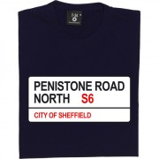 Sheffield Wednesday: Penistone Road North S6 Road Sign T-Shirt