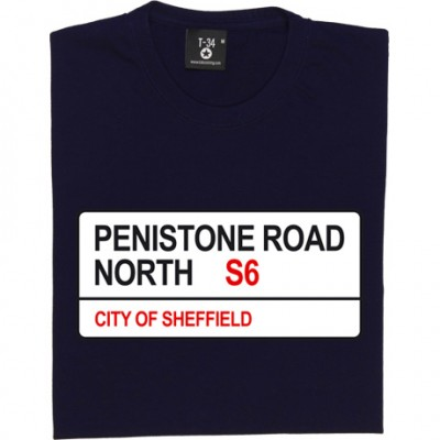 Sheffield Wednesday: Penistone Road North S6 Road Sign