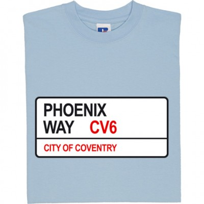 Coventry City: Phoenix Way CV6 Road Sign
