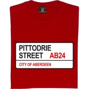 Aberdeen FC: Pittodrie Street AB24 Road Sign T-Shirt
