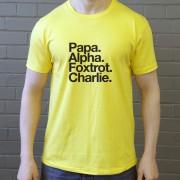 Plymouth Argyle FC: papa Alpha Foxtrot Charlie T-Shirt