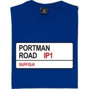 Ipswich Town: Portman Road IP1 Road Sign T-Shirt