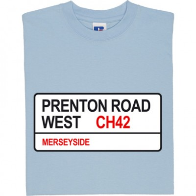 Tranmere Rovers: Prenton Road West CH42 Road Sign