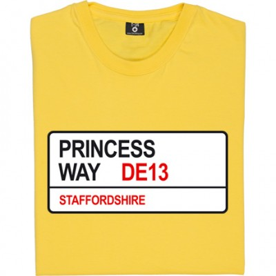 Burton Albion: Princess Way DE13 Road Sign