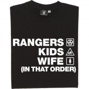 Rangers Kids Wife (In That Order) T-Shirt