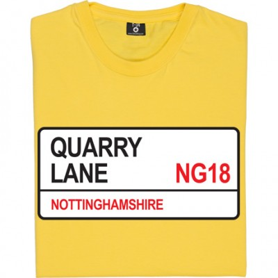 Mansfield Town: Quarry Lane NG18 Road Sign
