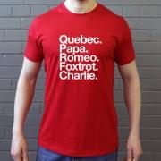Queens Park Rangers FC: Quebec Papa Romeo Foxtrot Charlie T-Shirt