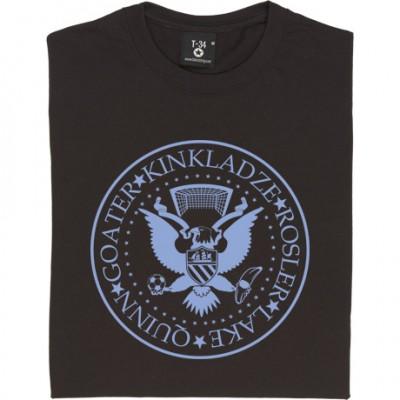 The Ramones Manchester City: Quinn, Goater, Kinkladze, Rosler, Lake