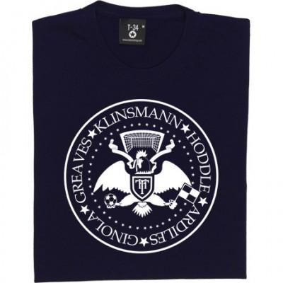 The Ramones Tottenham Hotspur: Greaves, Klinsmann, Hoddle, Ardiles, Ginola