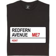 Gillingham FC: Redfern Avenue ME7 Road Sign T-Shirt