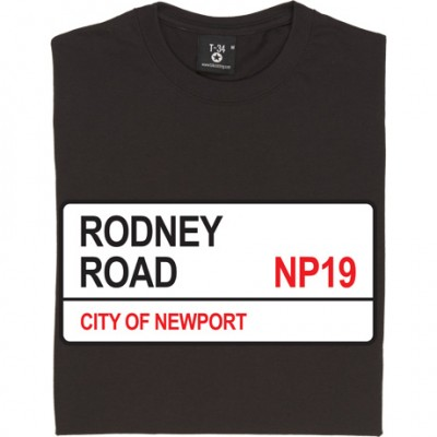 Newport County: Rodney Road NP19 Road Sign