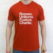 Rotherham United FC: Romeo Uniform Foxtrot Charlie T-Shirt