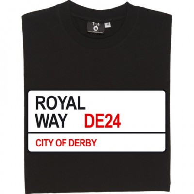 Derby County: Royal Way DE24 Road Sign