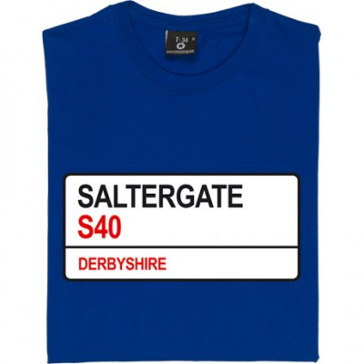 Chesterfield FC: Saltergate S40 Road Sign