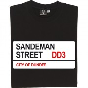 Dundee FC: Sandeman Street DD3 Road Sign T-Shirt