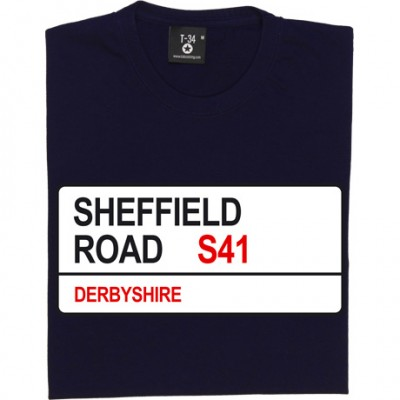 Chesterfield FC: Sheffield Road S41 Road Sign