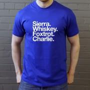 Sheffield Wednesday FC: Sierra Whiskey Foxtrot Charlie T-Shirt