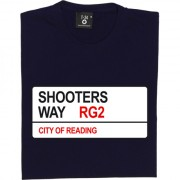 Reading FC: Shooters Way RG2 Road Sign T-Shirt