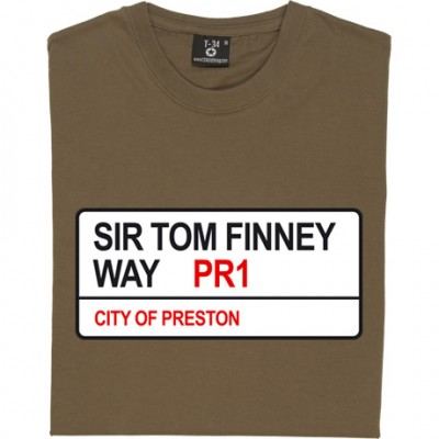Preston North End: Sir Tom Finney Way PR1 Road Sign