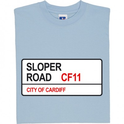 Cardiff City: Sloper Road CF11 Road Sign