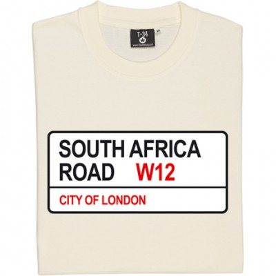 Queens Park Rangers: South Africa Road W12 Road Sign