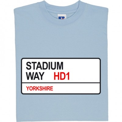 Huddersfield Town: Stadium Way HD1 Road Sign