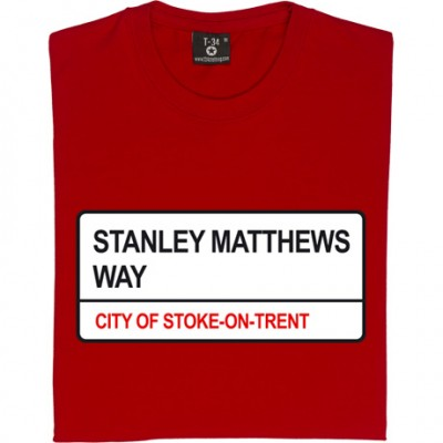 Stoke City: Stanley Matthews Way ST4 Road Sign