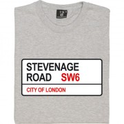 Fulham FC: Stevenage Road SW6 Road Sign T-Shirt