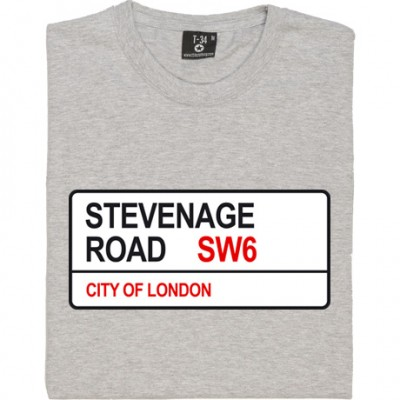 Fulham FC: Stevenage Road SW6 Road Sign