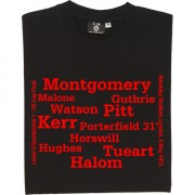 Sunderland 1973 FA Cup Final Line Up T-Shirt