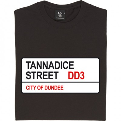 Dundee United: Tannadice Street DD3 Road Sign