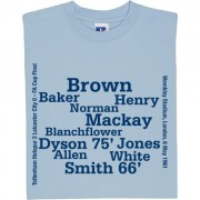 Tottenham 1961 FA Cup Final Line Up T-Shirt