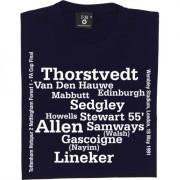 Tottenham 1991 FA Cup Final Line Up T-Shirt