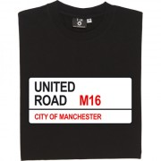 Manchester United: United Road M16 Road Sign T-Shirt