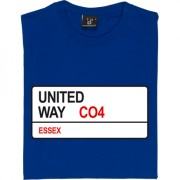 Colchester United: United Way CO4 Road Sign T-Shirt