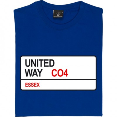 Colchester United: United Way CO4 Road Sign