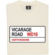Watford FC: Vicarage Road WD18 Road Sign T-Shirt
